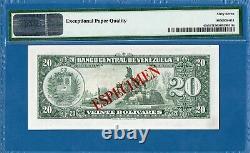 Venezuela, 20 Bolivares, 1960, X 00000000 Spécimen, Superbe Gemme Unc-pmg67epq, P43s1