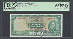 Venezuela 20 Bolivares 29-1-1974 P46es Spécimen Perforé Non Circulé