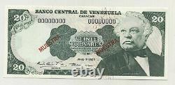 Venezuela 20 Bolivares 7-6-1977 Pick 53. S2 Unc Spécimens De Billets De Banque Non Distribués