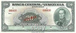 Venezuela 20 Bolivares Nd. P 32s Specimen Uncirculated Banknote Des Années 1940