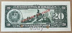 Venezuela 20 Bolivars 1960-1966 Note De Banque Specimen Non Distribuée