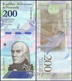 Venezuela 200 Bolivar Soberano, 2018, P-107a. 1, Unc X 100 Pcs