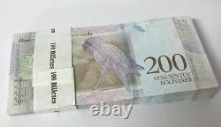 Venezuela 200 Bolivares 2018 P 107 Unc Lot 100 Pcs 1 Bundle