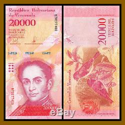Venezuela 20000 (20000) Bolivares X 500 Pcs Bundle, 1/2 Brique, 2016-17 P-99 Unc