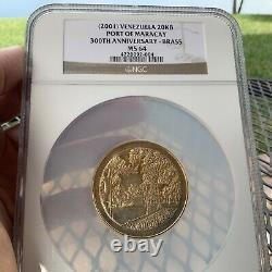 Venezuela 20000 Bolivares 2001 Mbac Ms 64 Maracay Seulement 1.000 Minted