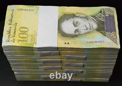 Venezuela 2017 100 000 Bolivares 1000 Pcs Brick Bundle Wild Life Series Unc
