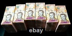 Venezuela 2018 $50 Bolivares Unc 6 Briques 6000 Pcs Nouveau Sku324 Non Circulé
