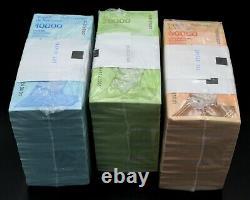 Venezuela 2019 10 000 $ 20 000 $ 50 000 Bolivares Unc 3 Briques 3 000 Pcs Sku4182
