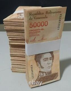 Venezuela 2019 / 2020 1 Brick (1000) Pcs 50000 Bolivares Vf, Xf, Au Utilisé
