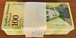 Venezuela 40 Millions 100000 100.000 Bolivars X 400 Pcs Lot Bundle Unc Monnaie