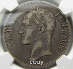 Venezuela 5 Bolivars 1902 Ngc Vf 20. Caractéristiques Agréablement Tonées Et Fortes