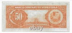 Venezuela, 50 Bolivares 13-6-1957 E7 Vf Condition