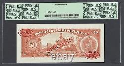 Venezuela 50 Bolivares 1964-72 P44s Specimen Tdlr N004 Non Circulé