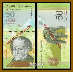 Venezuela 50 Bolivares, 2012 P-92s Specimen S/n 0088 Unc