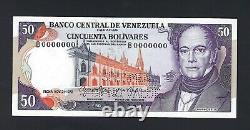 Venezuela 50 Bolivares 21-11-1972 Spécimen P54as Perforé Préfixe B Unc