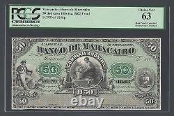 Venezuela 50 Bolivars 188 Ca(1882) Ps191p Essay Proof Uncirculated