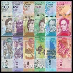 Venezuela 500 1000 2000 5000 10000 20000 100000 Bolivares 2016 (700 Billet)
