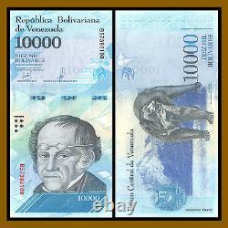 Venezuela 500 100000 Bolivares (7 Pcs Set) X 100 Pcs Bundle, 2016-2017 Unc