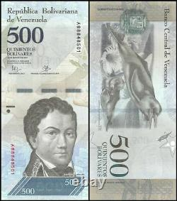 Venezuela 500 Bolivar Fuerte X 1000 Pcs, 2007-17, P-new, Unc, Brick