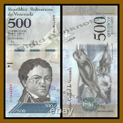 Venezuela 500 Bolivares X 500 Pcs Demi 1/2 Brique, 5 Bundles, 2016-2017 P-94 Unc