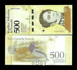 Venezuela 500 Bolivars Nouveau 2018 X 1000 Pcs Lot Brique Bundle Soberanos Unc Remarque