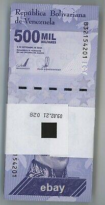 Venezuela 500000 Bolivars 3-9-2020 Choisir Un Nouveau Lot De Billets De Banque Non Distribués Unc