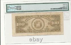 Venezuela Banco Central 1949 Pick 34a 100 Bolivares Pmg 25 Mintage 804 000