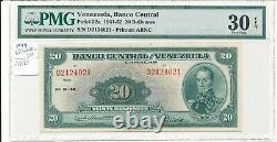 Venezuela Banco Central1941-52 Pick 32a 20 Bolivares Pmg 30epq