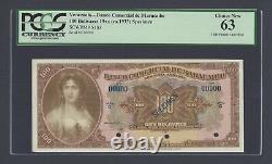 Venezuela Banco De Comercial De Maracabo 100 Bolivars 1933 Ps183s Spécimen Unc