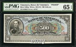 Venezuela Banco De Venezuela 500 Bolivares Proof Pmg 65 Epq Gem Unc Ca. 1916-21