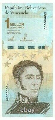 Venezuela Bénévoles 2020 1 000 000 Nouveau Unc. Pack De 100 Billets Commémoratifs