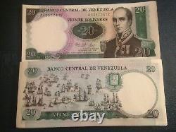 Venezuela Bundle 100 Pcs Commémorative 1987 Urdaneta 20 Bolivar Billet Unc Con