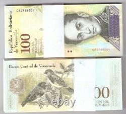 Venezuela Bundle De 1000 X 100000 Bolivares Note Fuerte Unc Billets De Banque Nouvelle Brique