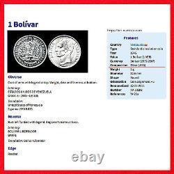 Venezuela Coin Collection Mixte Dates / Dénominations (33 Coins) Rares Problèmes
