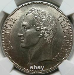 Venezuela Gram 25 5 Bolivares 1936 Ngc Au 58 Unc Lustre