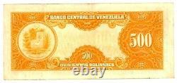 Venezuela. P-37b. 500 Bolivares. 29 Mai-1958. Ch Vf-xf. Préfixe B1