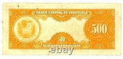Venezuela. P-37b. 500 Bolivares. Du 8 Novembre Au 1956.  Vf. Préfixe B1