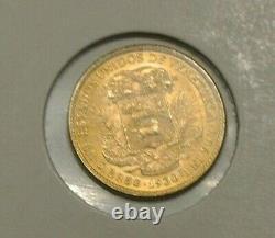 Venezuela Rare 10 Bolivares Or 1930 Fdc