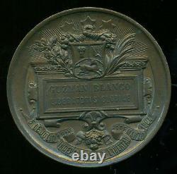 Venezuela Simon Bolivar G Blanco 1883 Liberatoris Gloriae Médaille Rare De Bronze