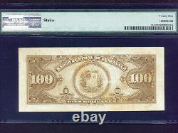 Venezuelap-34a, 100 Bolivars, 1949 Simon Bolivar Et Sucre Pmg Vf 25